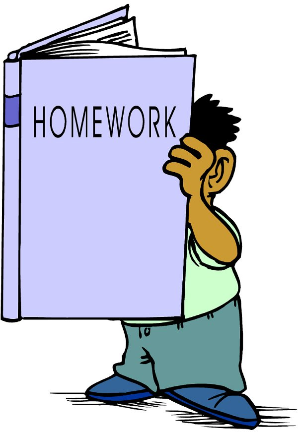 Clipart homework homework book. Doing read cliparts and
