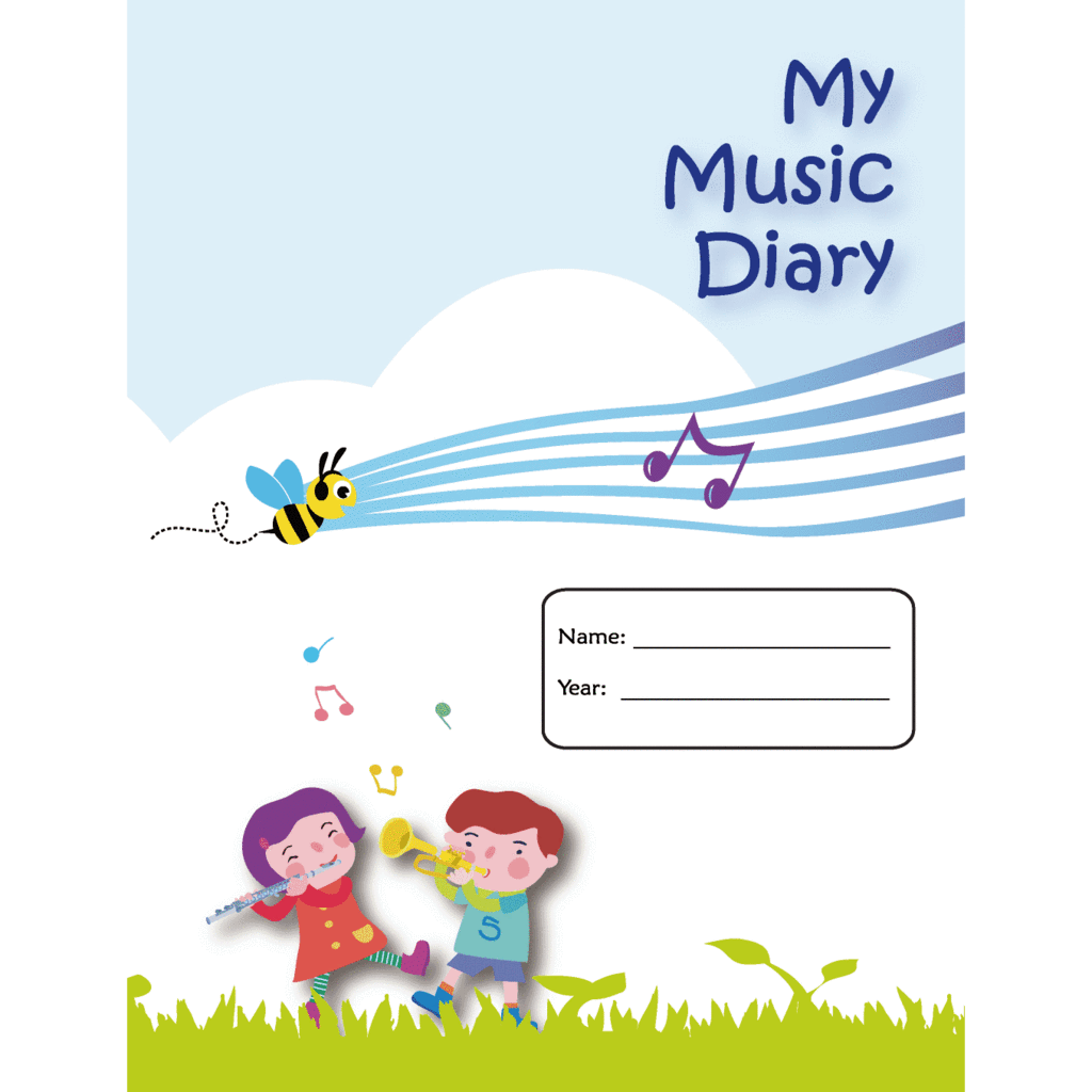 Note clipart homework diary. Music bumblebees my record