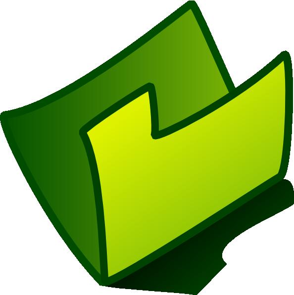 Empty green foler icon. Homework clipart homework folder