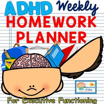 Planner clipart homework planner. Adhd and executive functioning