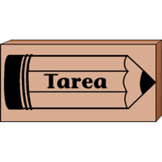 Teachers stamp tarea . Clipart homework homework spanish