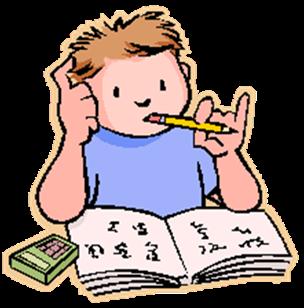Study clipart study hall. Math homework paper panda