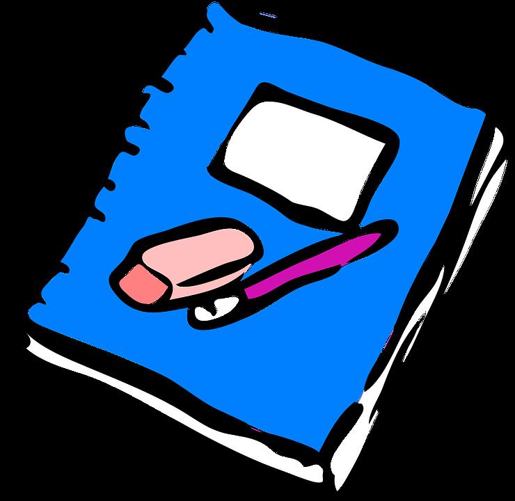 Homework east school notebook. Essay clipart journal