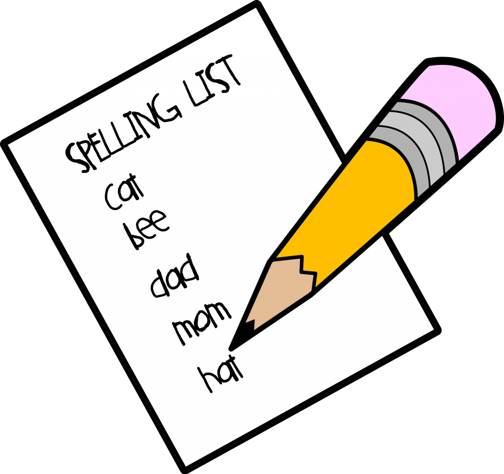 collection of test. Clipart homework spelling homework
