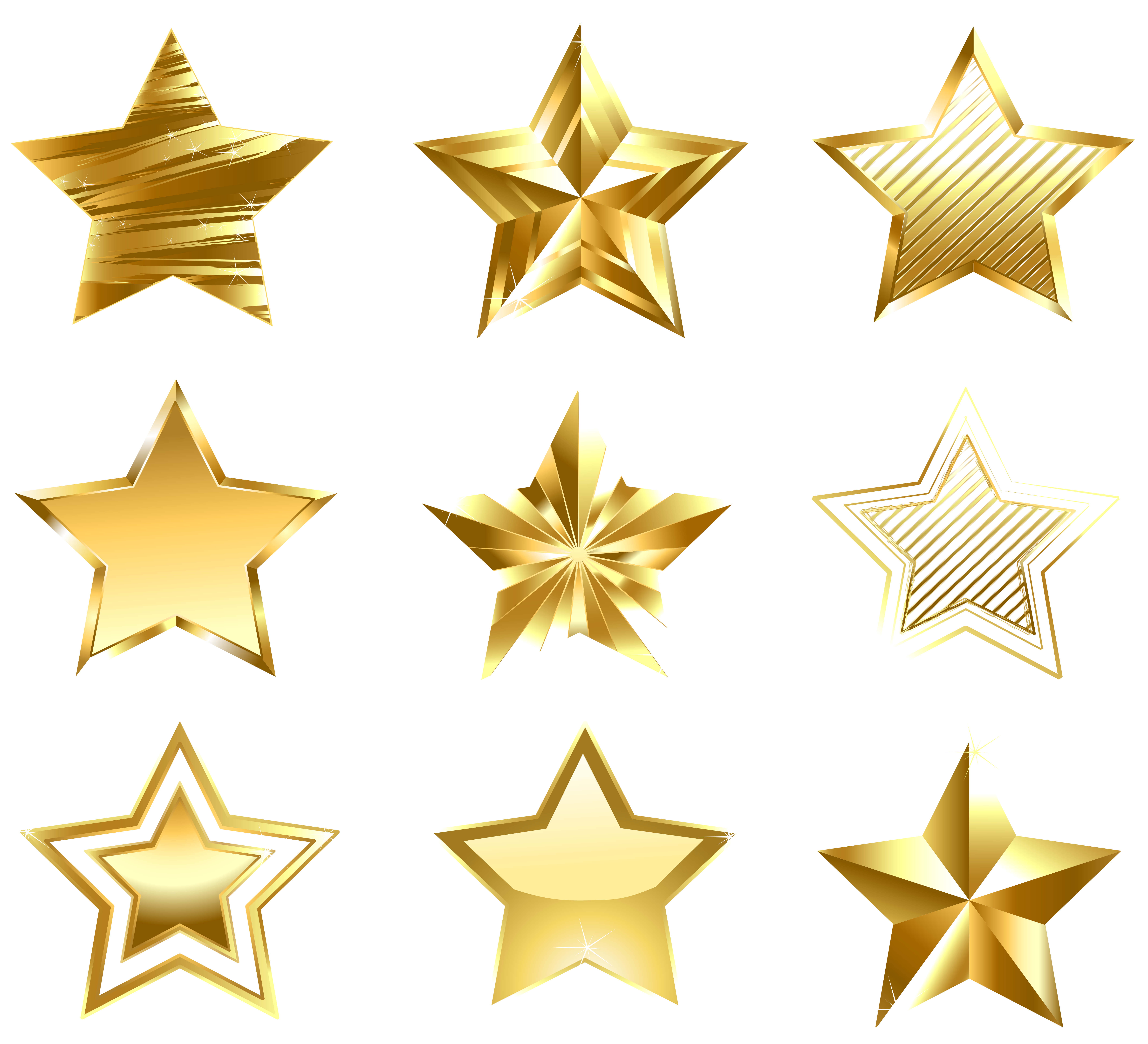 Clipart stars accent. Transparent golden set png