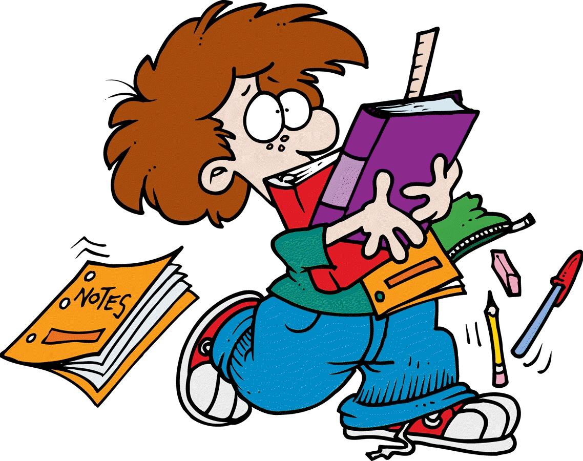 stress clipart schoolwork