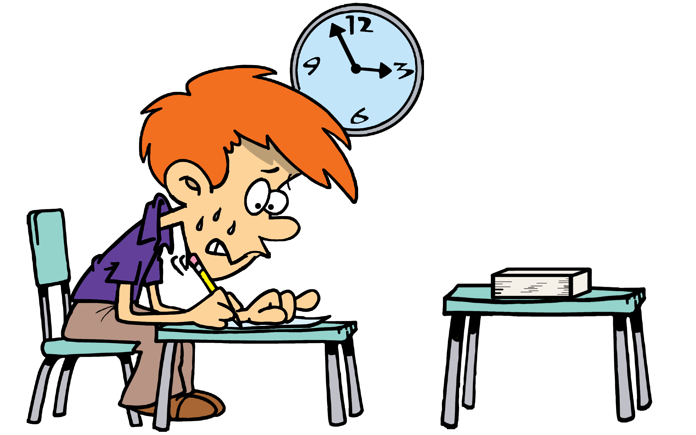 Retaking tests emphasizes learning. Test clipart gradebook