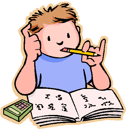 Clip art for kids. Clipart homework