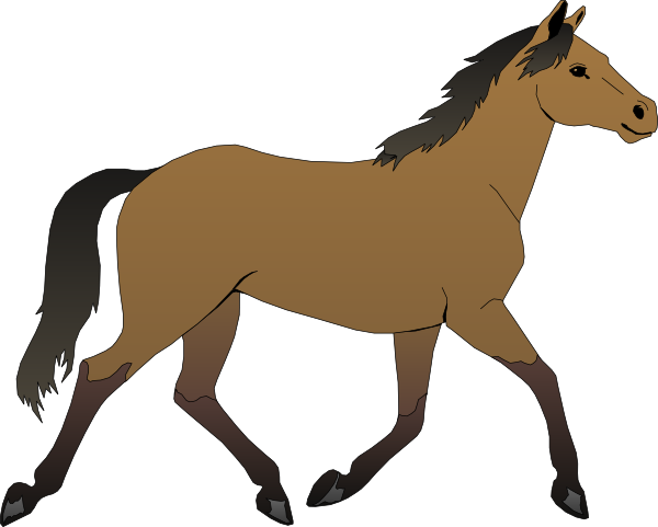 Clip art running vector. Animals clipart horse