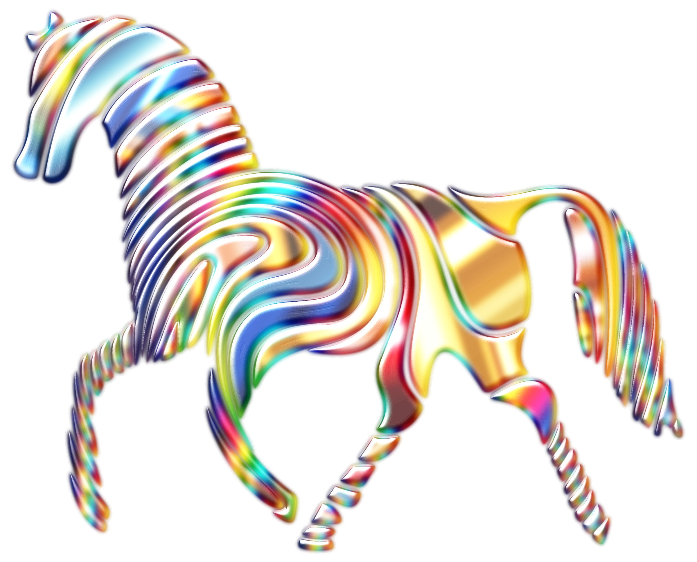 Psychedelic big image png. Clipart horse abstract