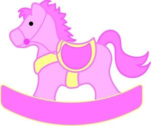 Rocking horse image pretty. Horses clipart baby shower