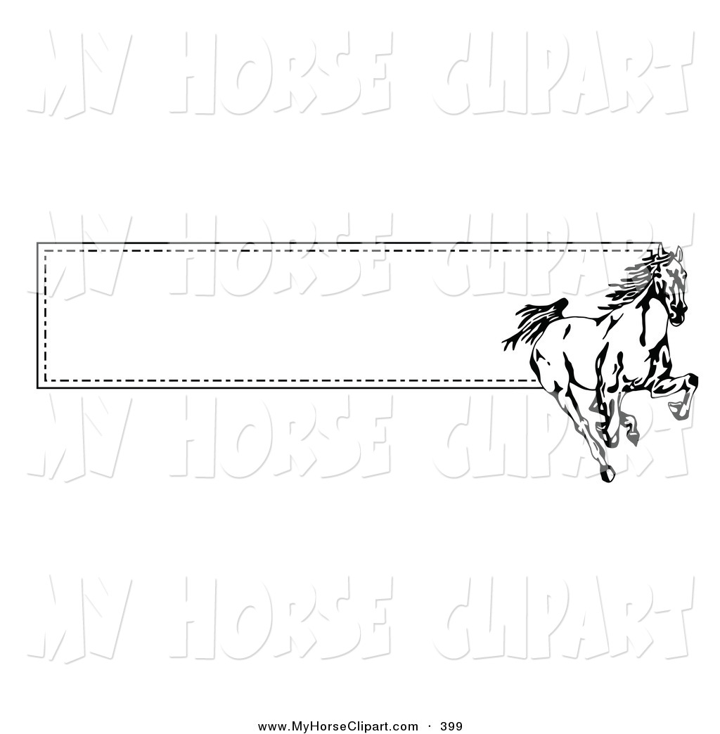 horses clipart banner