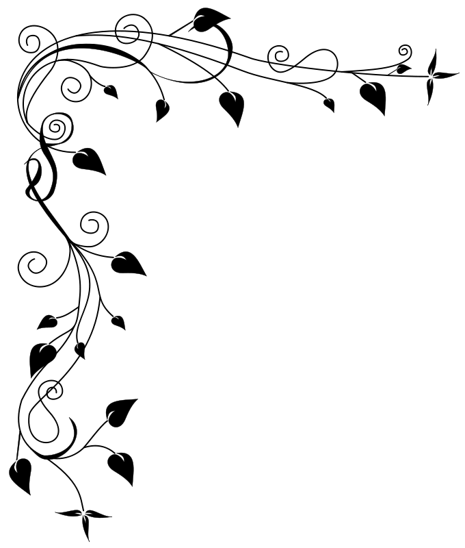 Flower border pinterest vector. Tinkerbell clipart traceable