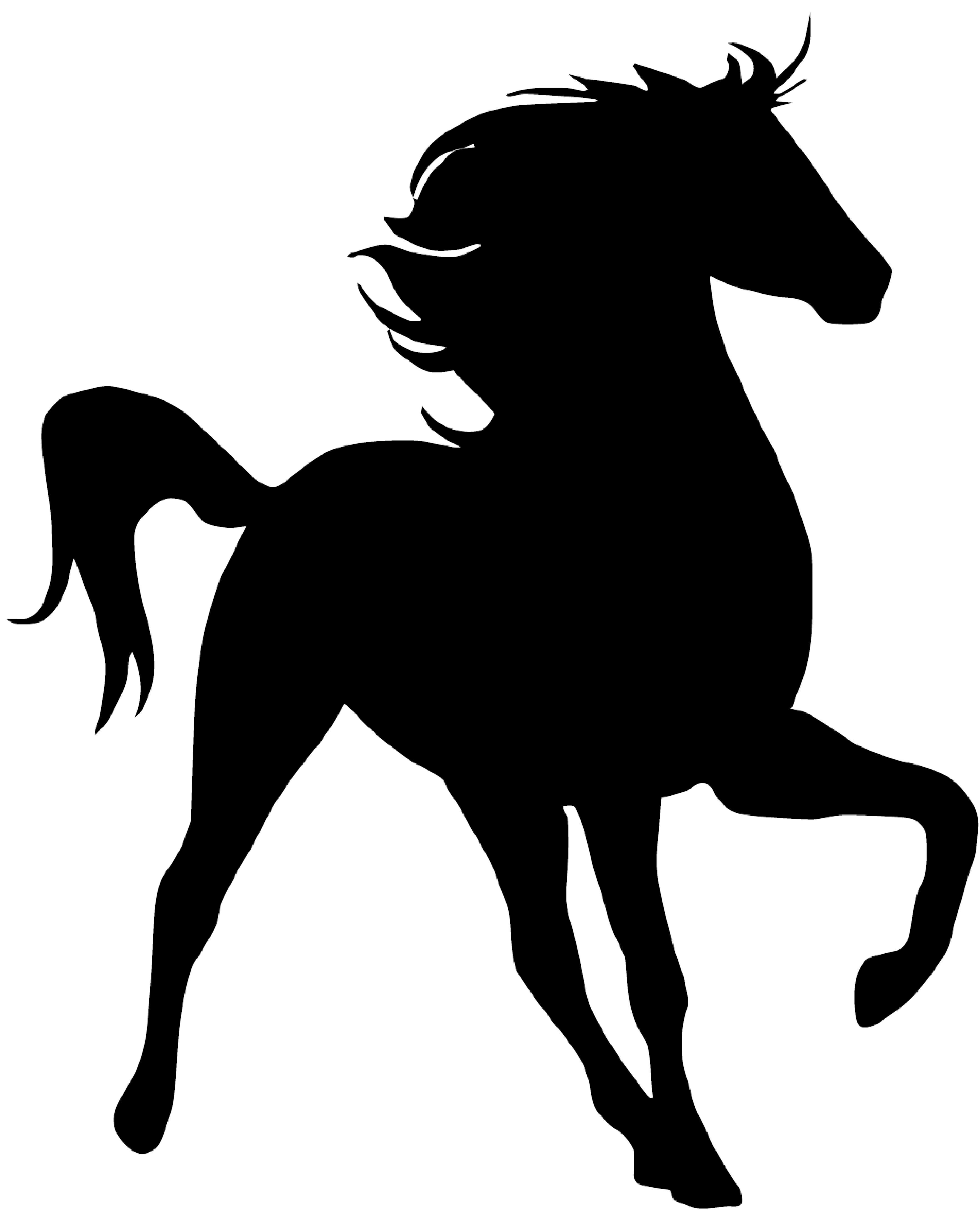 Horses clipart watercolor. Horse silhouette at getdrawings