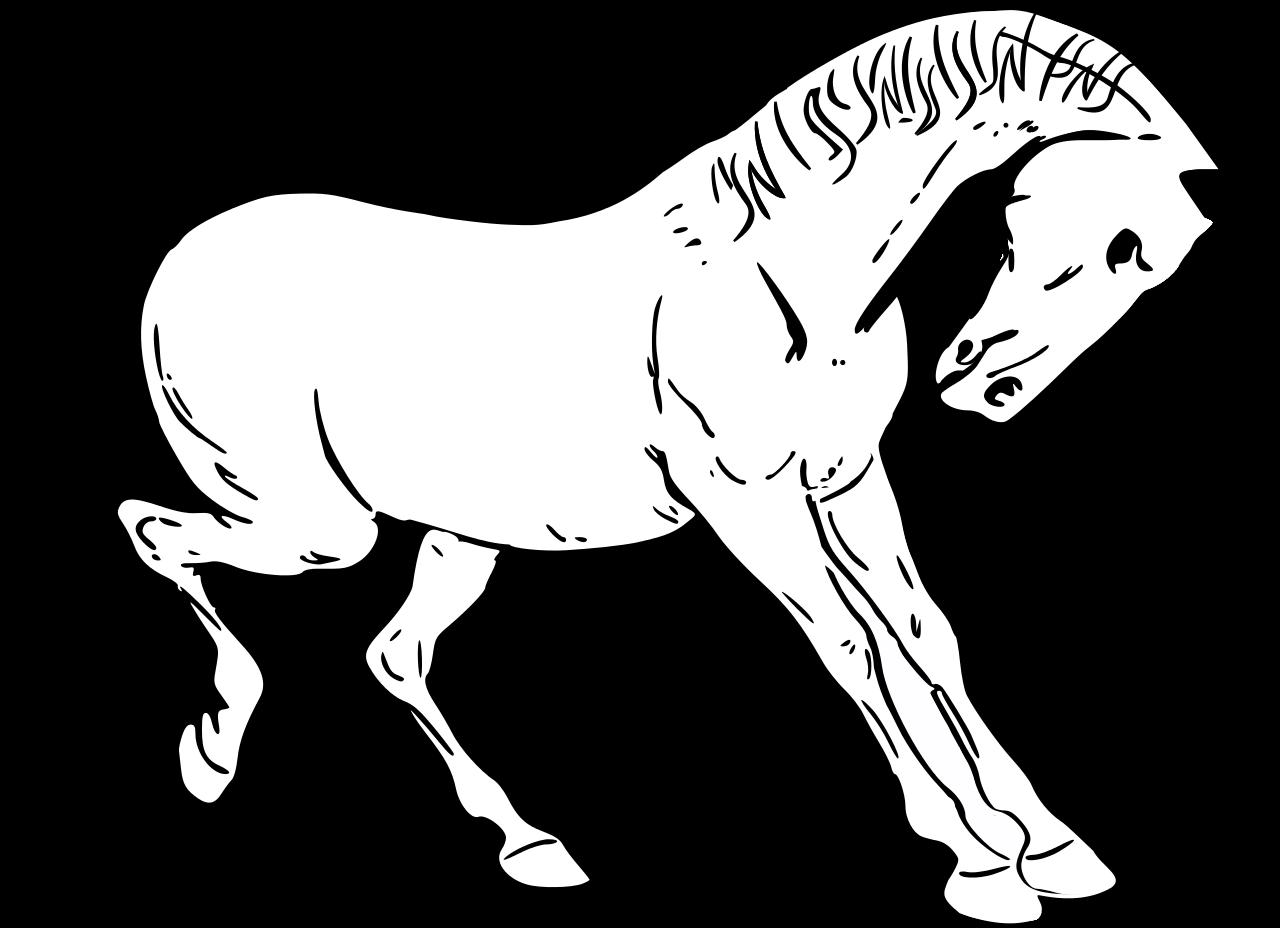 Horses clipart vector. Horse graphics illustrations free