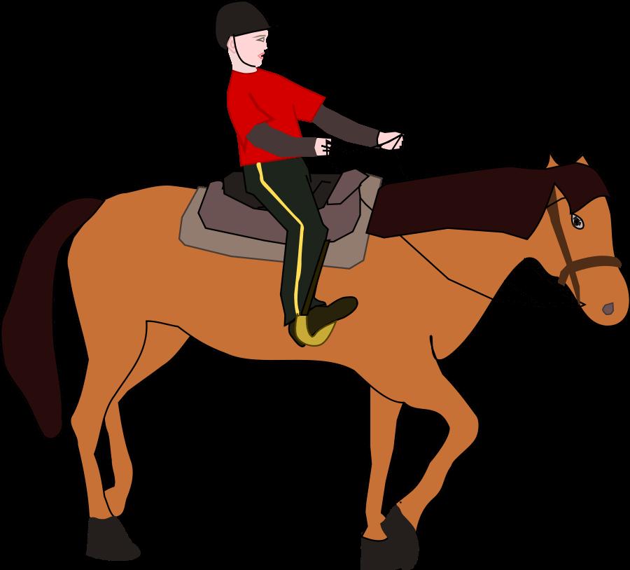 Clipart horse boy. Cliparts zone