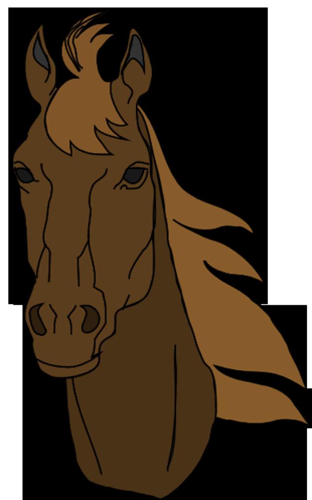 Brown stencils pinterest clip. Clipart horse bust