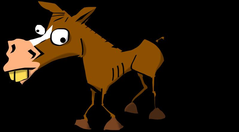 Crazy colored medium image. Horse clipart race horse