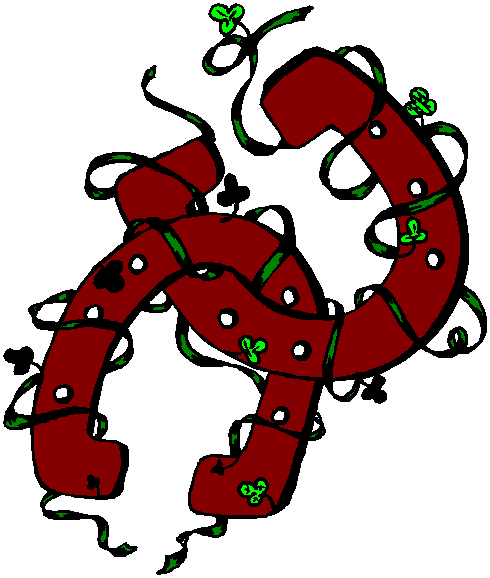 Horseshoe clipart christmas. Free horse download clip