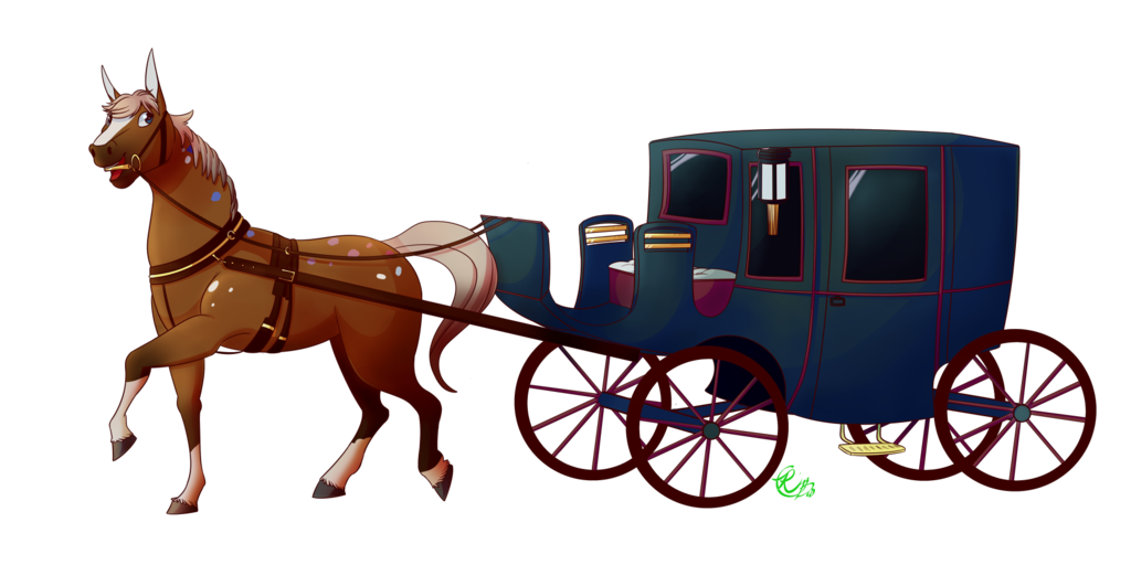 Horse and buggy drawing. Wagon clipart farm wagon