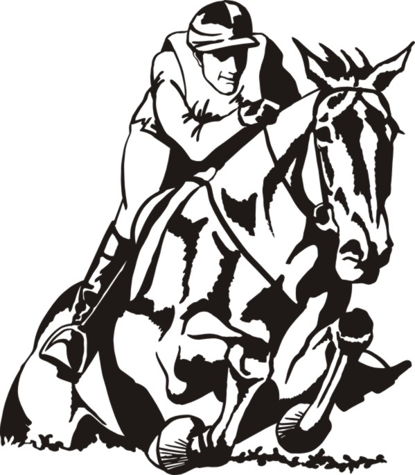 Horse clipart cross country. Silhouette
