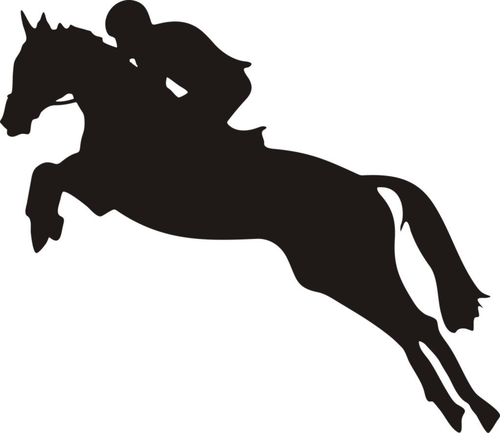 Hunter jumper clip art. Horses clipart cross country