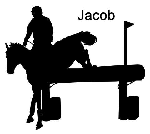 Silhouette . Horse clipart cross country
