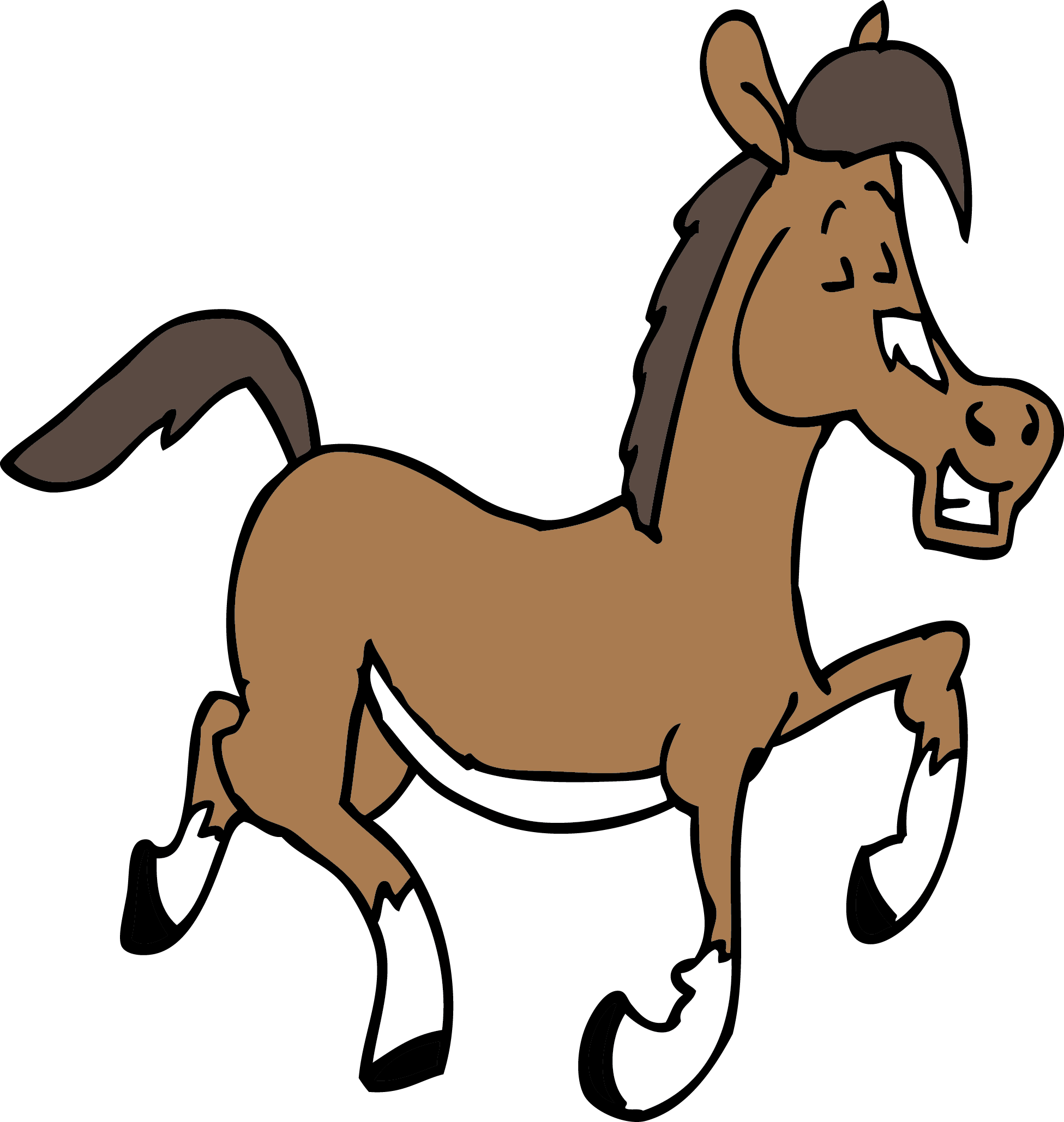 Clipart horse cute.  collection of happy