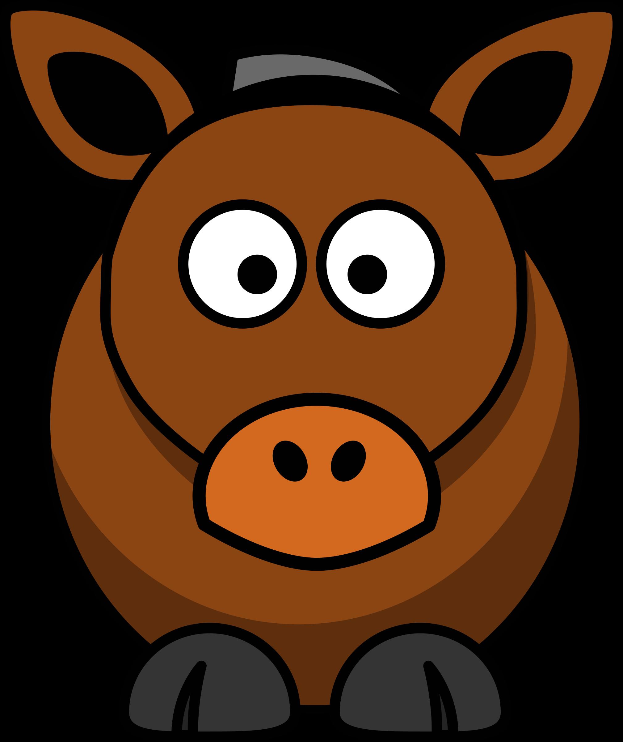 Cartoon image of free. Clipart horse cute