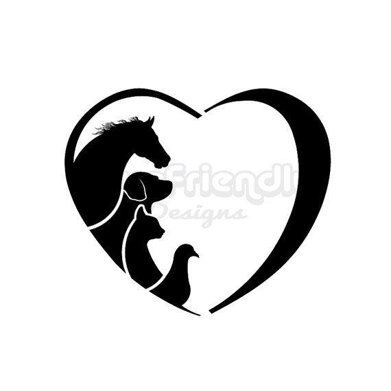 Horse cat bird love. Horses clipart dog