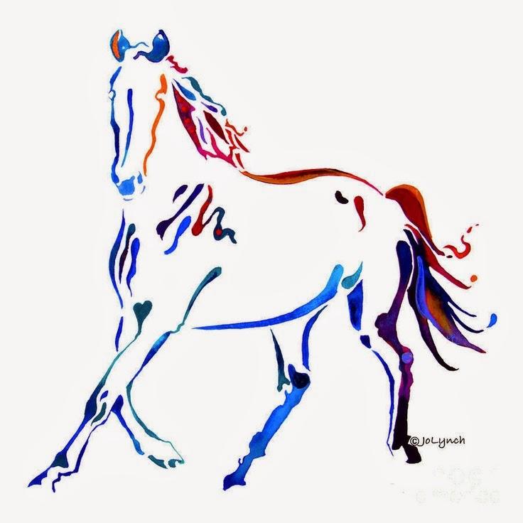 My heart tattoo brown. Horse clipart elegant