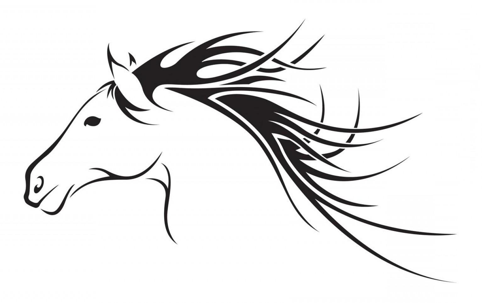 Horse clipart elegant. Head logo clip art