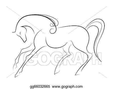 Horse clipart elegant. Stock illustration gg gograph