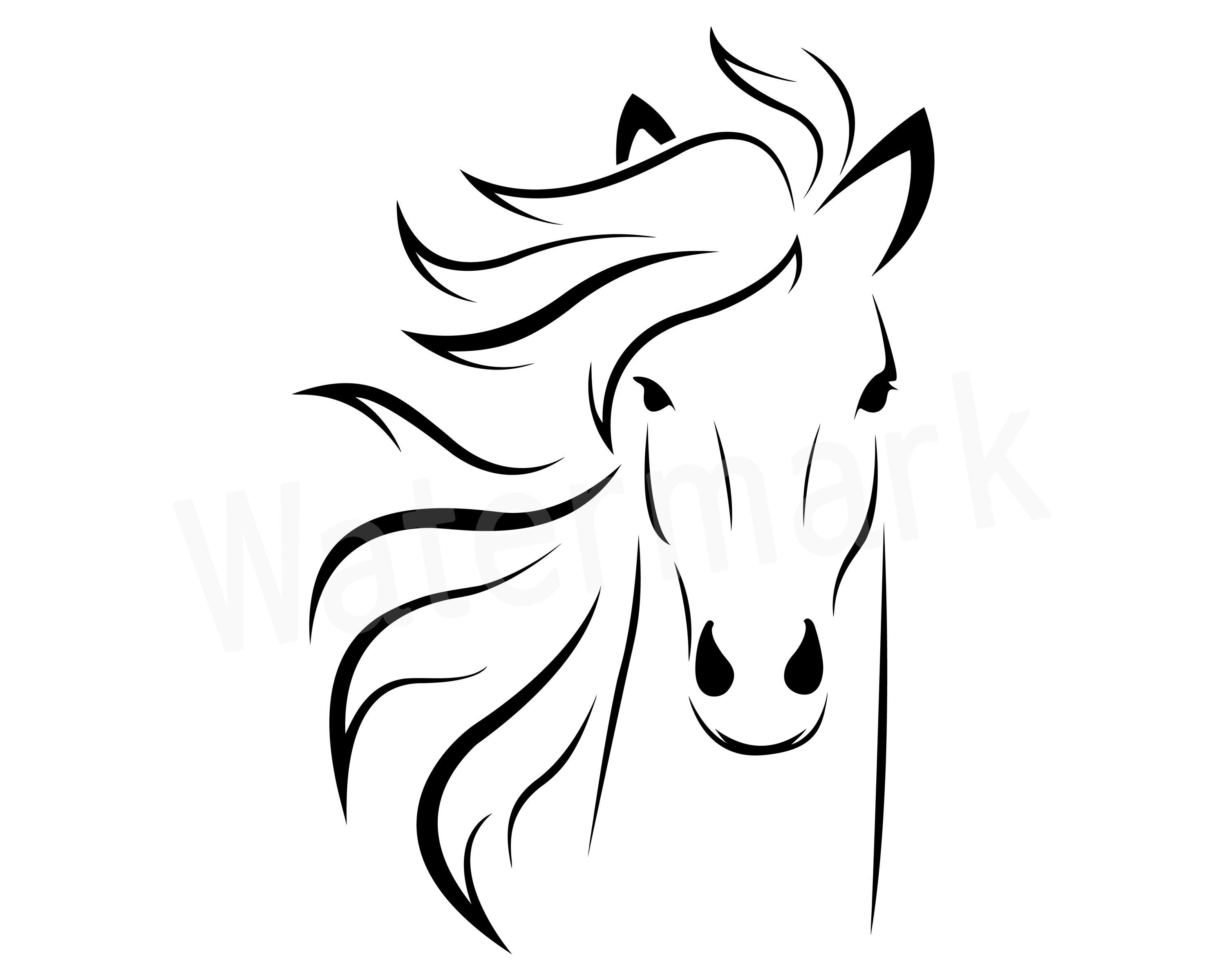 Horse clipart file. Head svg pony vector