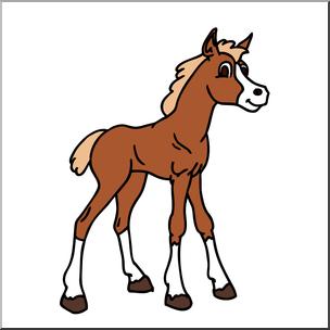 Clipart horse foal. Clip art cartoon color