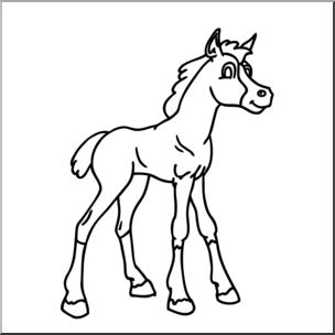 Clip art cartoon b. Clipart horse foal