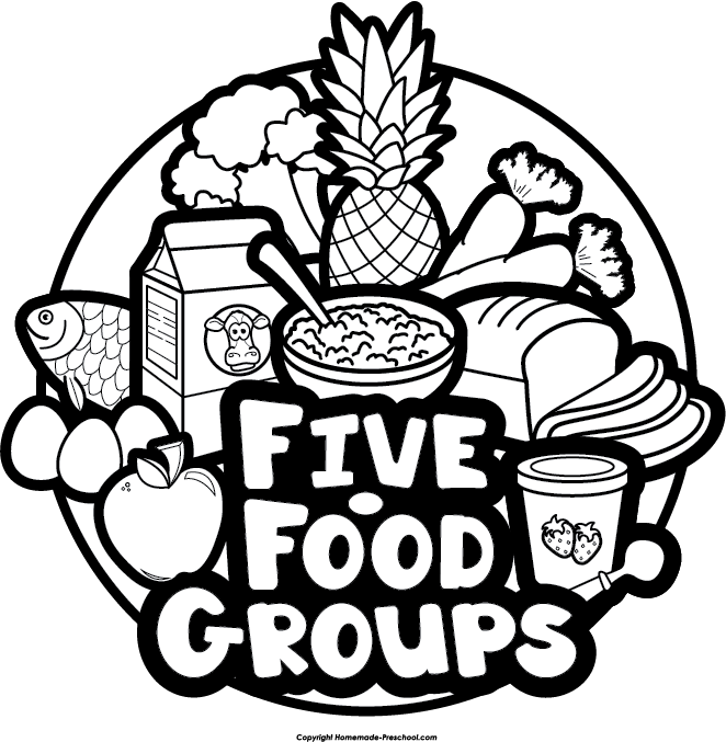 Group clipart drawing. Food groups collection free