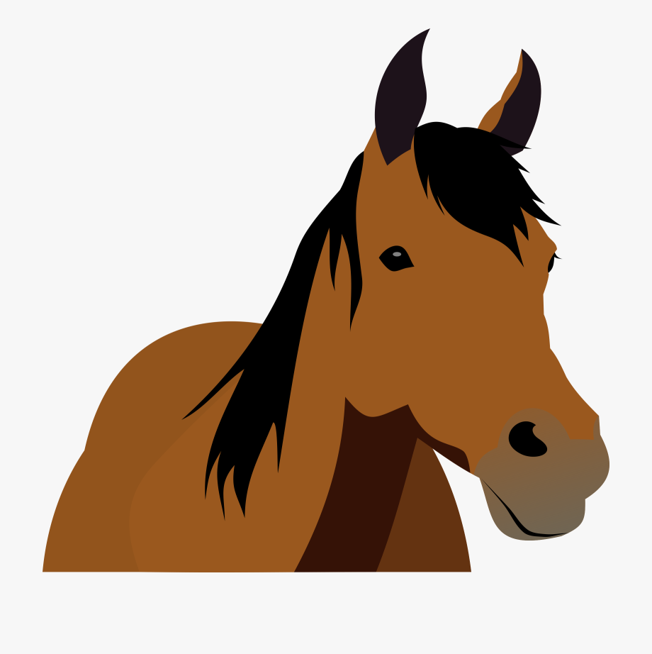 Cartoon view . Horse clipart front