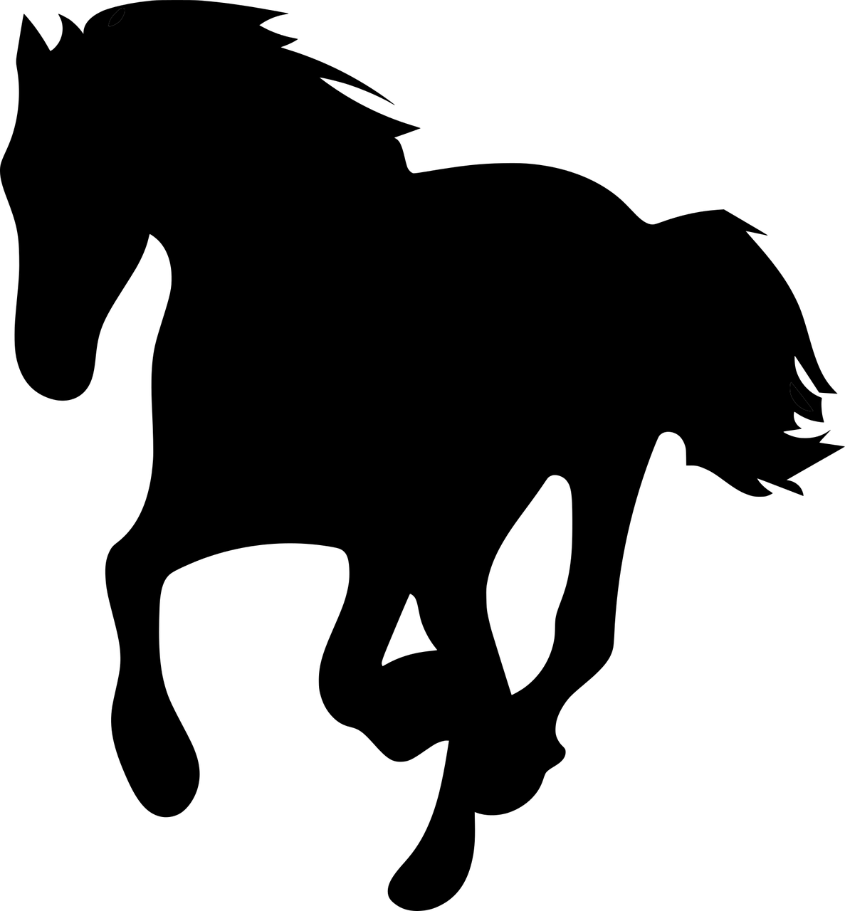 Horse clipart front. Black png image purepng