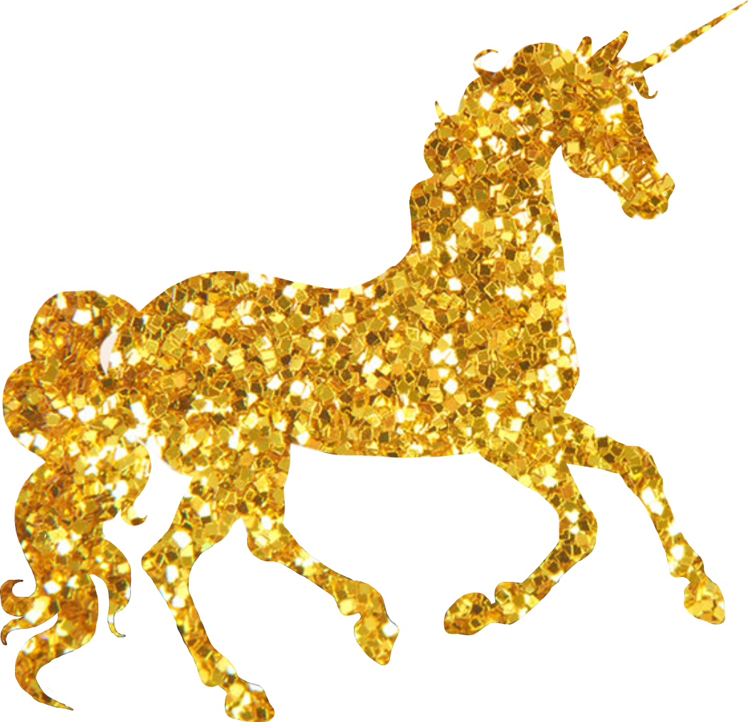 Unicorn sparkly cute sticker. Deer clipart glitter