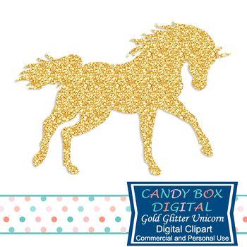 Horses clipart glitter. Gold unicorn clip art