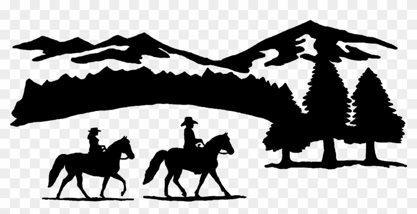 Clipart horse horse ranch. Silhouette free