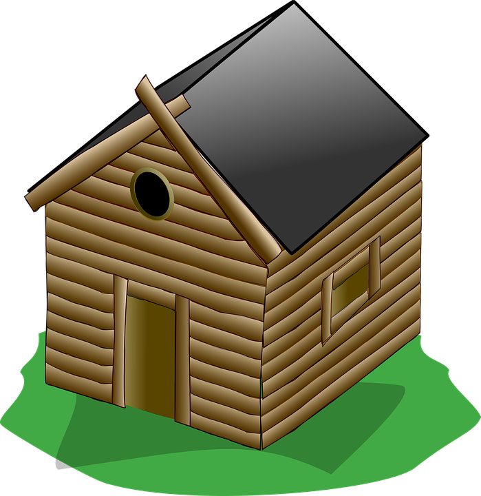 Hut wooden free on. Horse clipart house