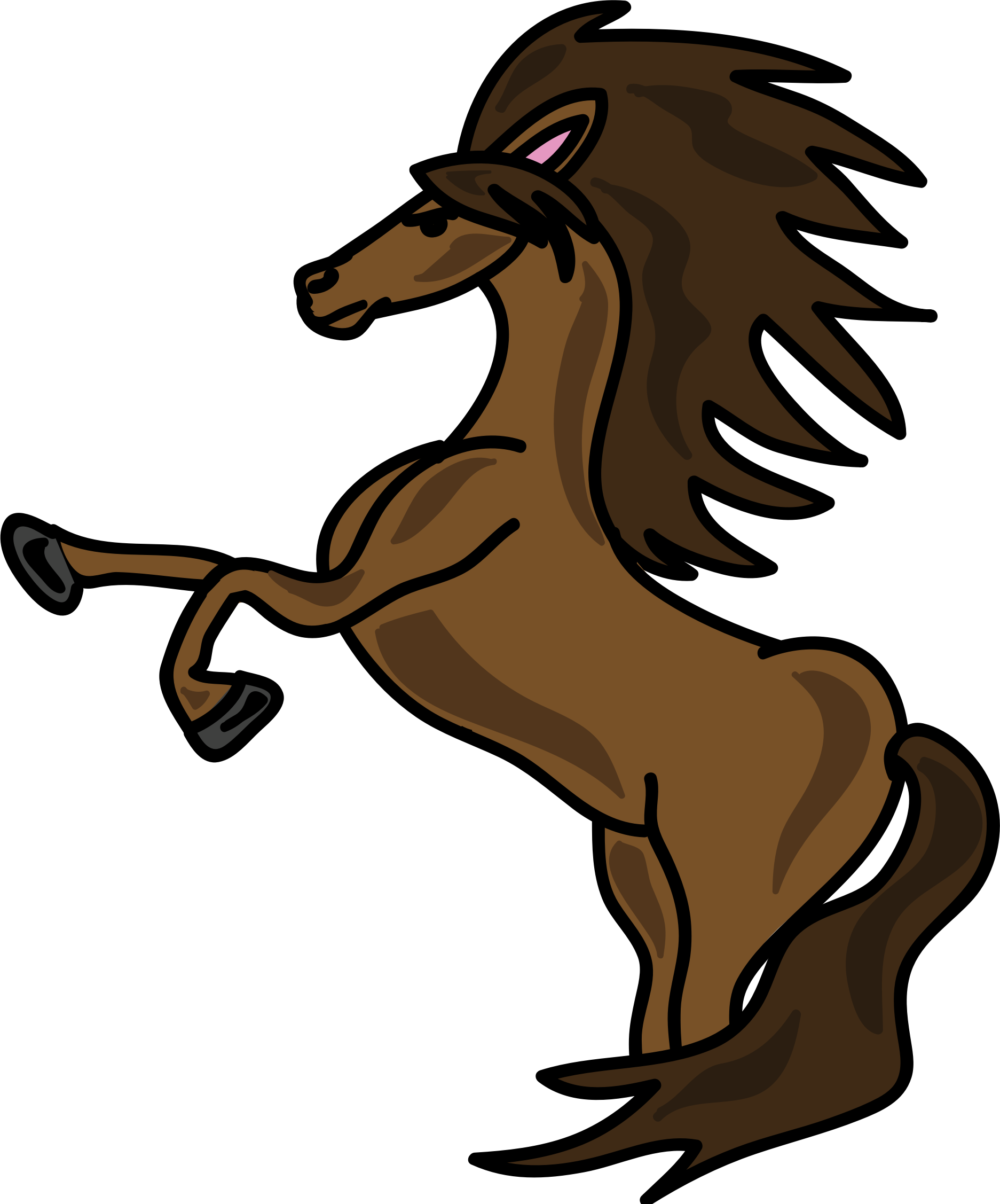 Horse clipart domestic animal. Brown big image png