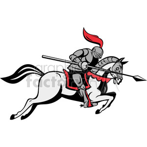 With lance riding horse. Knights clipart knight jousting