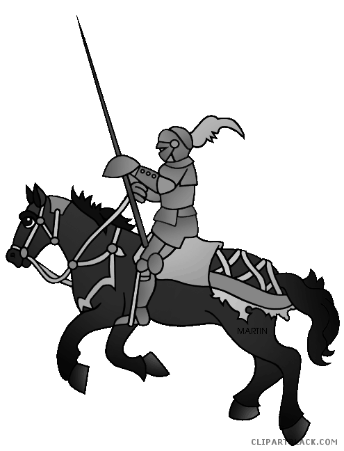 Knight clipart cute. On a horse clipartblack