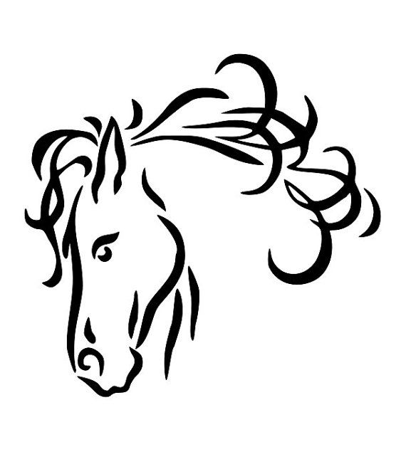 Drawings clip head drawing. Horse clipart line art