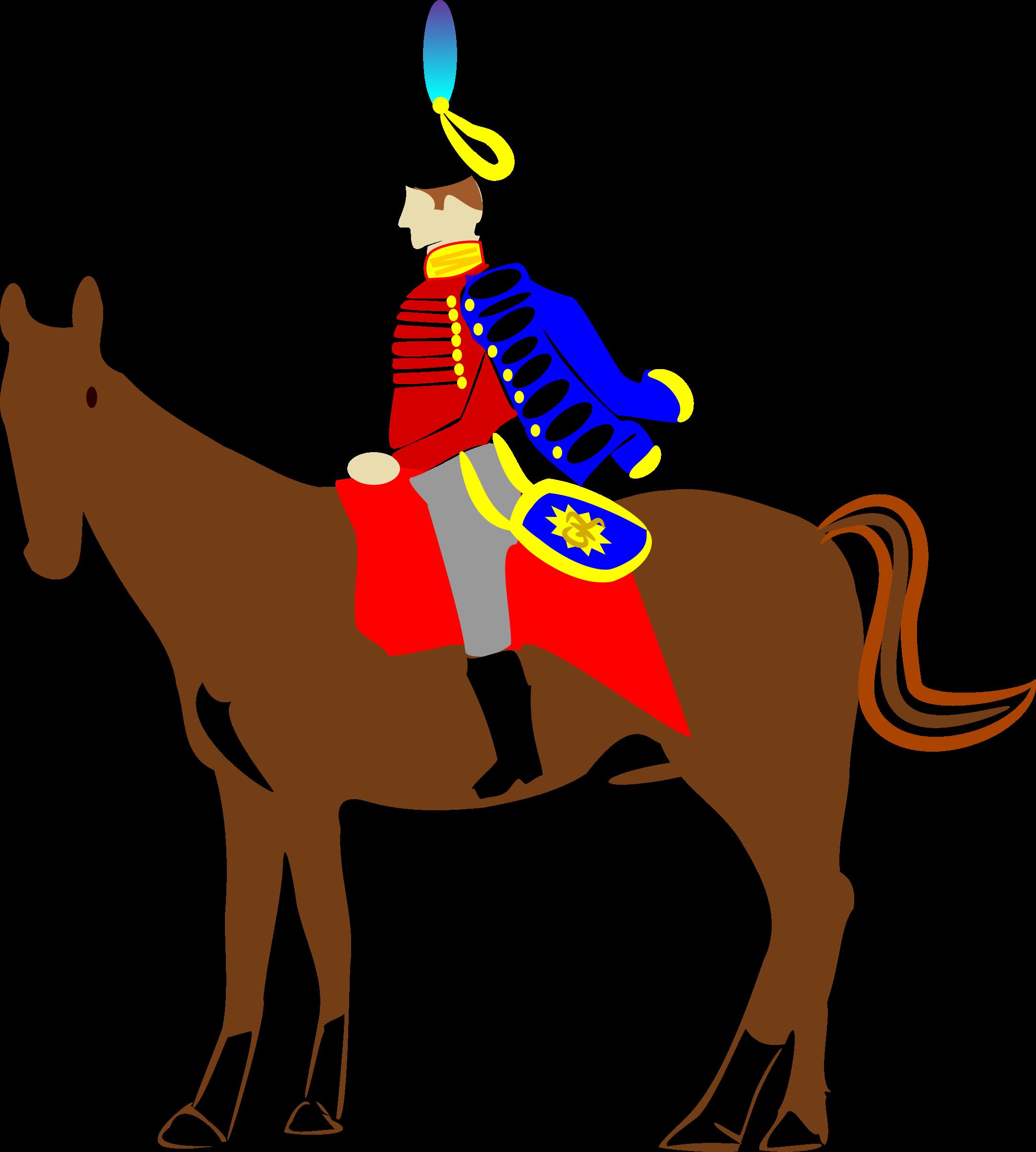 Clipart horse man. Quality street big image