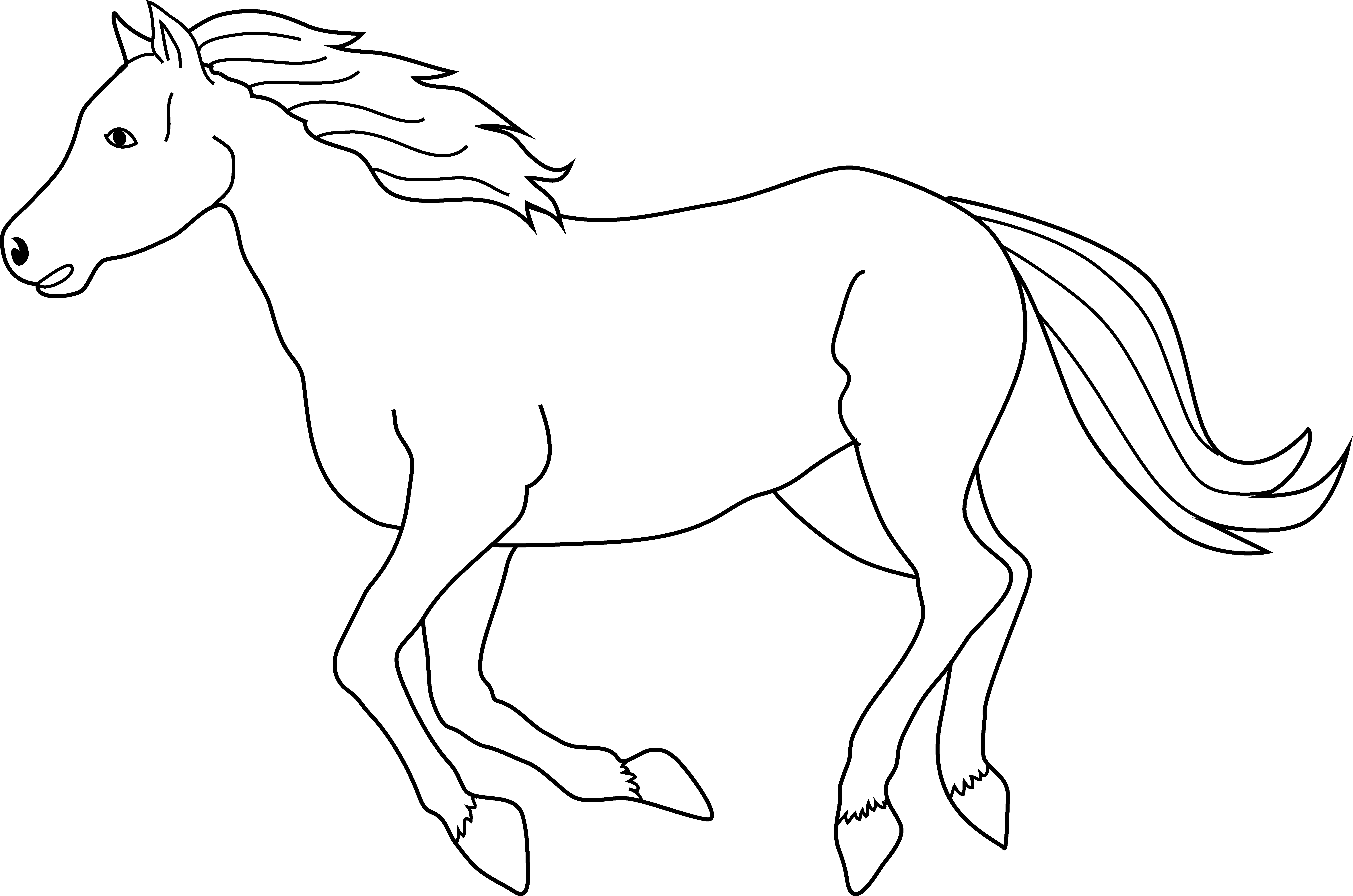 Horses clipart muscular.  collection of running