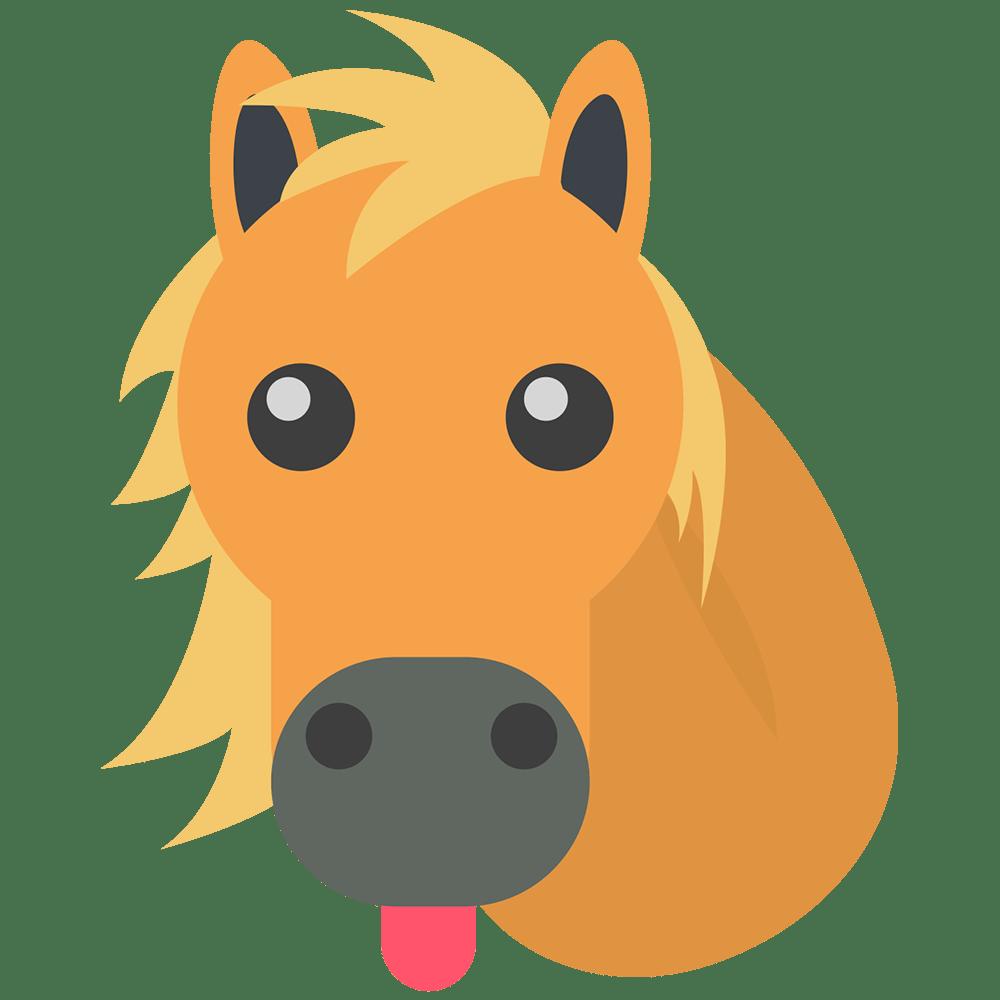 Transparent png stickpng. Emoji clipart horse